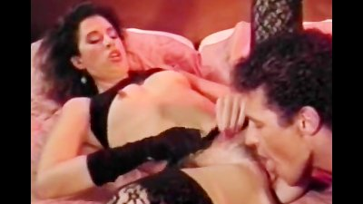 Girl in ebony lingerie pussy fuck