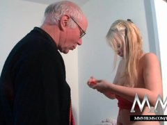 Preview 2 of Mmv Films Teen Girl Fucked By A Grandpa