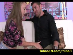 Preview 1 of Lia Ezra Meets New Stepdad