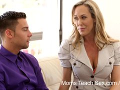 Preview 4 of Moms Teach Sex - Mom Licks Jizz From Stepdaughters Twat