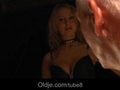 Preview 1 of Busty Blonde Teen Seduces Grandpa To Have Sex