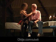 Preview 3 of Busty Blonde Teen Seduces Grandpa To Have Sex