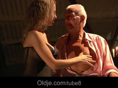 Preview 4 of Busty Blonde Teen Seduces Grandpa To Have Sex