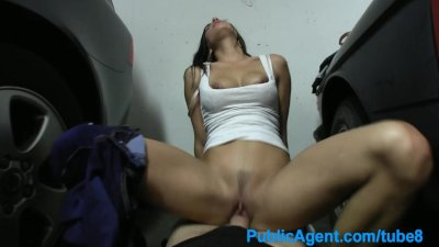 PublicAgent Hot brunette wife fucking a stranger in a car park
