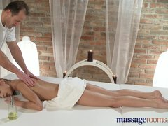 Preview 3 of Massage Rooms Petite Young Teen Has Intense Orgasm From Expert Pussy Licker