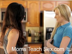 Preview 3 of Young Couple Fucks Hot Mom