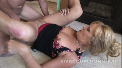 Check out this old lady's hairy muff as she gets fucked