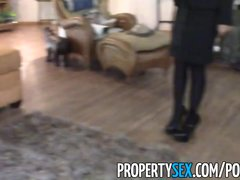 Preview 2 of Propertysex - Really Cute Real Estate Agent Makes Dirty Sex Video