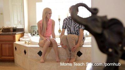 Creampie mom son sex porn tube