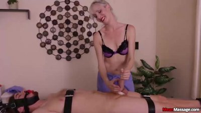 Blonde dom cock torture