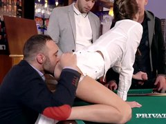 Preview 4 of Gina Gerson Gets Private Lesson On How To Gangbang