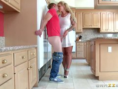 Preview 5 of Stepmom Takes Some Young Cock - Brazzers