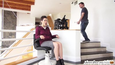 Seductive teen babe Lily LaBeau gives a footjob and gets her pussy drilled  1029540