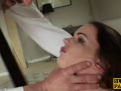 Preview 5 of Spanked Brit Sub Tasha Holtz Pounded Roughly