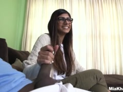 Preview 2 of Mia Khalifa Tries A Big Ebony Dick (mk13775)