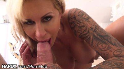 HardX Cougar Sucks Balls and Does Anal POV