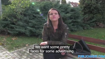 PublicAgent Sexy student creampied outdoors