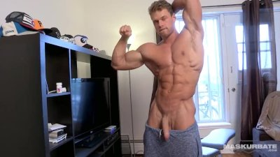 Maskurbate Brad Showing Off His Huge Muscles and DICK!
