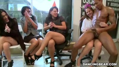 Alaina\'s Dancing Bear Birthday Fiesta with Big Dick Male Strippers