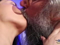 Preview 3 of Teen Sensual Cock Massage And Pussy Fuck With Big Dick Grandpa Super Hot