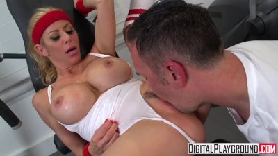 Wettest Workout II - Alexis Fawx gets pounded at the gym and takes a big lo