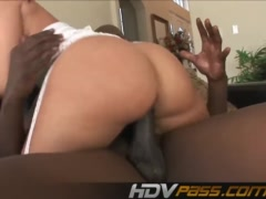 Preview 7 of Sexi Brunette With A Big Butts Jada Ride A Big Ebony Cock