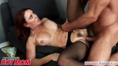 Busty horny MILF Janet Mason fucks her son\'s friend - Naughty America
