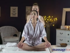 Preview 2 of Massage Rooms Face Sitting Orgasms For Horny Young Natural Tits Lesbians