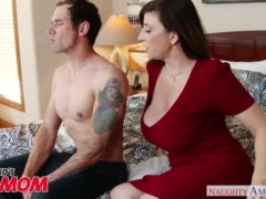 Preview 4 of Busty Milf Sara Jay Seduces, Sucks And Fucks Her Son\\'s Bud -naughty America