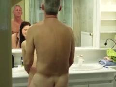 Preview 7 of My Step Sister With Big Tits Fucks Grand Dad Gives Him Titjob And Handjob