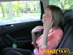 Preview 1 of Faketaxi Brunette Fucked From Behind By Taxi Driver