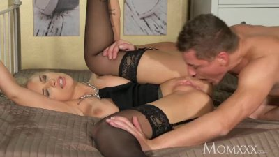 MOM Wild blonde gets the deepthroat and submissive rough fucking she craves