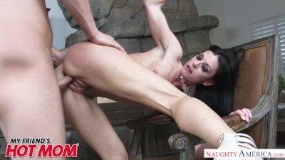 MILF India Summer heats up her son\'s friend\'s big dick - Naughty America