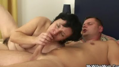 Mature lady surprised by her i