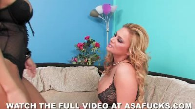 Asa Akira Fucks Shyla Stylez with a Huge Dildo