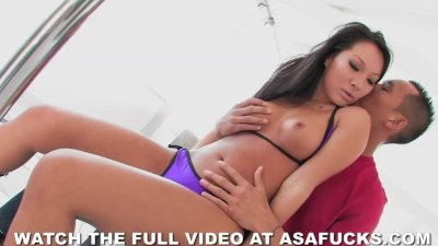Asian Asa Akira Strips and Fucks Her Client HOT