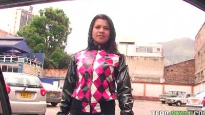 Latina hottie Andrea Azul getting fucked hard and facialized