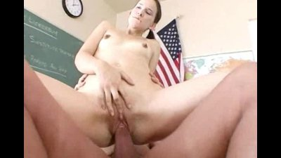 Cute petite Cristina getting her tight pussy fucked hard