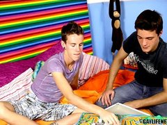 Gay  twinks  Anal  Fucking  Lollipop  Rimming  Trimmed Board Game Night Turns into Wild Fucking
