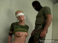 Slave girl gets punished and gags on cock