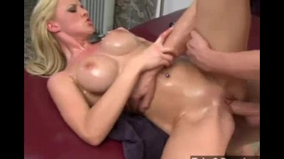 Oily big tits blonde gets dest