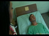 Sexy Nurse Aletta, who craves a flannel nearby her ass, teases sleeping what really happened