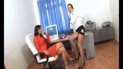 Secretary office threesome