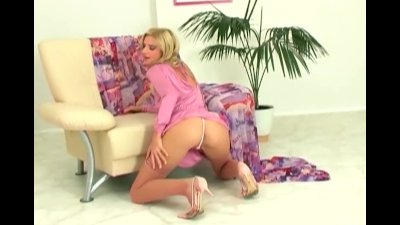 Fingering in stockings and hee