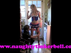 Naughty Tinkerbell pussy pumping and nasty clit and nipple pumping torture