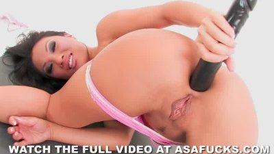 Asa Akira and a big black dild