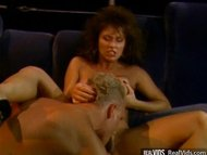 Deep penetration close to hairy vintage pussy