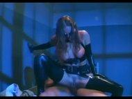 Female cop in uniform shagging in latex lingerie