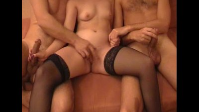 Hot wife Lindy banged by 2 friends at home