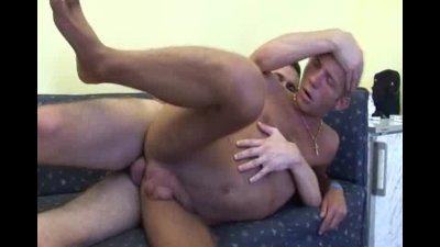 Deep gay bareback ass fucking